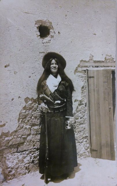 """Unknown, """"Untitled (Señorita Ma Gonzales Garcia),"""" n.d.  Photographic postcard. Collection of Mexican Revolution photographs, Collection 026. UCR Library, Special Collections & University Archives, University of California, Riverside."""