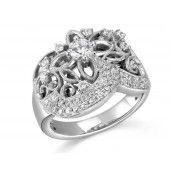 Porrati, Amalfi Collection, 14K White Gold Diamond Engagement Ring, 5/8 ctw.