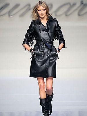 Модные кожаные женские плащи-2014 и их фото: с чем носить