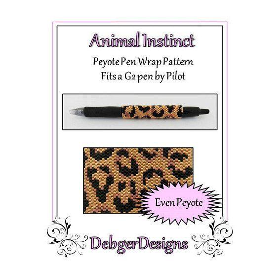Animal Instinct G2 Pen Wrap  Beaded Flat by FUNPATTERNDESIGNS