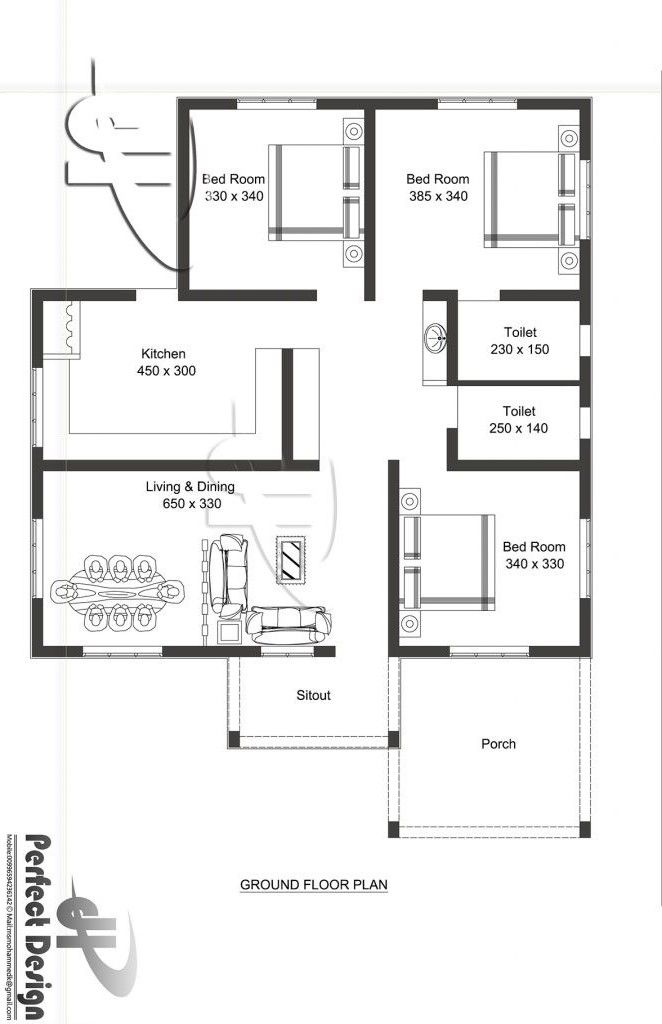 Modern Bungalow House Plan With Three Bedrooms Pinoy House Designs Pinoy House Designs In 2020 Modern Bungalow House Plans Colonial House Plans House Layout Plans