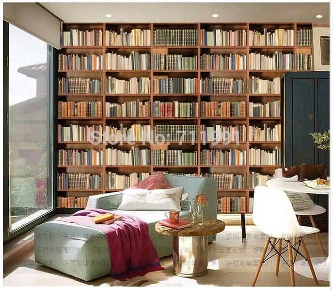 gratis verzending custom 3 d muurschildering moderne boekenkast te herstellen oude manieren de woonkamer slaapkamer studie de cafe achtergrond muur