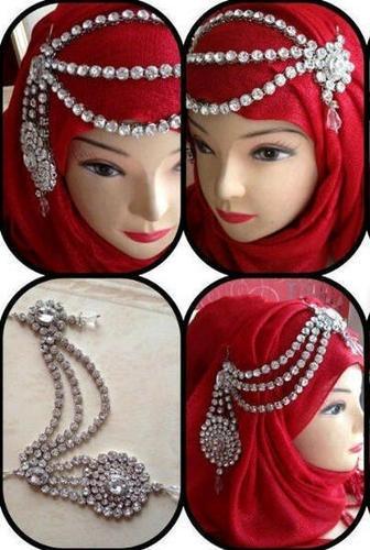 Choose One Color 3 Line CZ Gold Tone Brooch Hijab Pin Scarf Head Bridal Jewelry | eBay