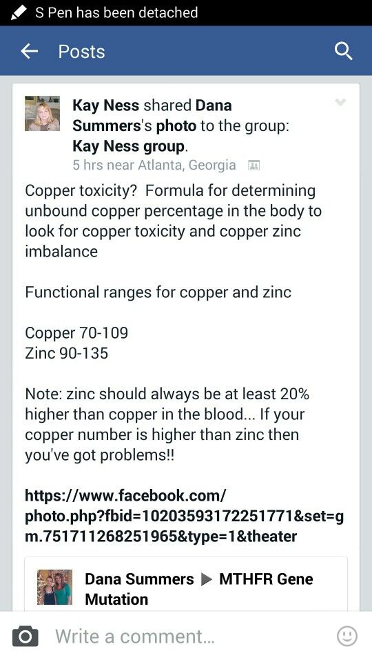 Zinc/Copper Ratios