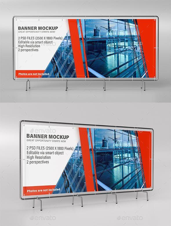 Banner Mockup | Mock-up | Mockup, Mockup photoshop, Mockup