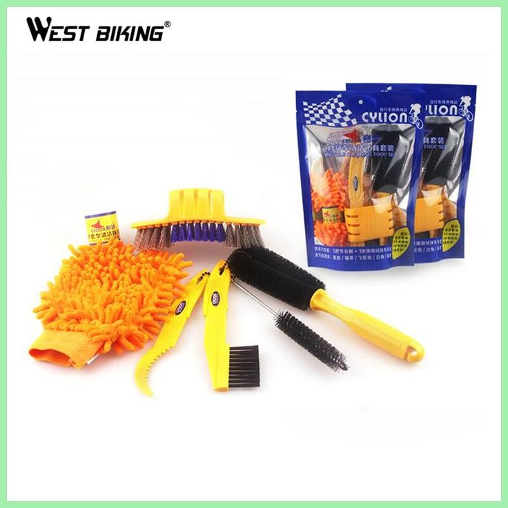 WEST BIKING Bicycle Cleaning Tool Set Cleaning Brush For Wheel Tire Bicicleta Limpieza Bike Cycling Chain Cleaner Wash Tool Kit