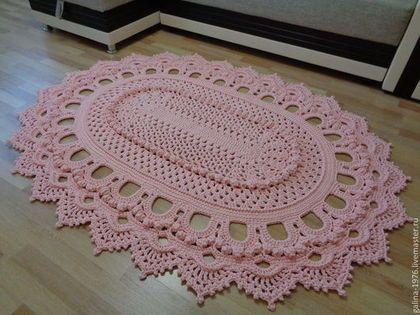 """Textiles, alfombras. Masters Feria - hecho a mano. Comprar alfombra de punto """"Magic"""". Hecho a mano. Pale calado rosa"""