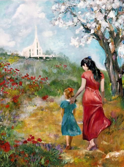 """""""A Walk to the Temple"""" by Brent Borup"""