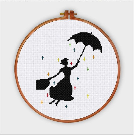 Mary Poppins Kindergarten Kreuzstichmuster Modern…
