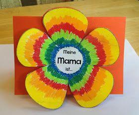 Meine Mama ist...      Neben dem Herz aus Katzenton sollen die Mamis meiner Zweitklässler auch eine hübsche Karte bekommen. Die Idee sah ic...