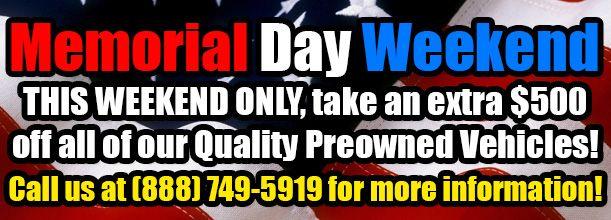 Memorial Day Car Sale!