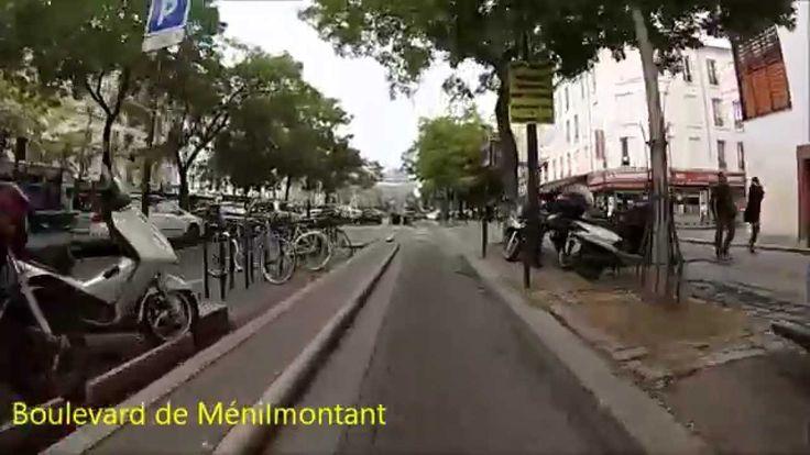 Cycling in Paris - Vincennes - Place Charles de Gaulle (Itinéraire offic...