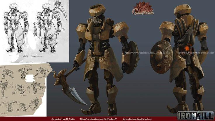 Ironkill: Robot Fighting Game Ironkill App Game Artwork -- The robot GramMasala Concept Art, Jay  Wong  on ArtStation at https://www.artstation.com/artwork/ironkill-robot-fighting-game-ironkill-app-game-artwork-the-robot-grammasala-concept-art
