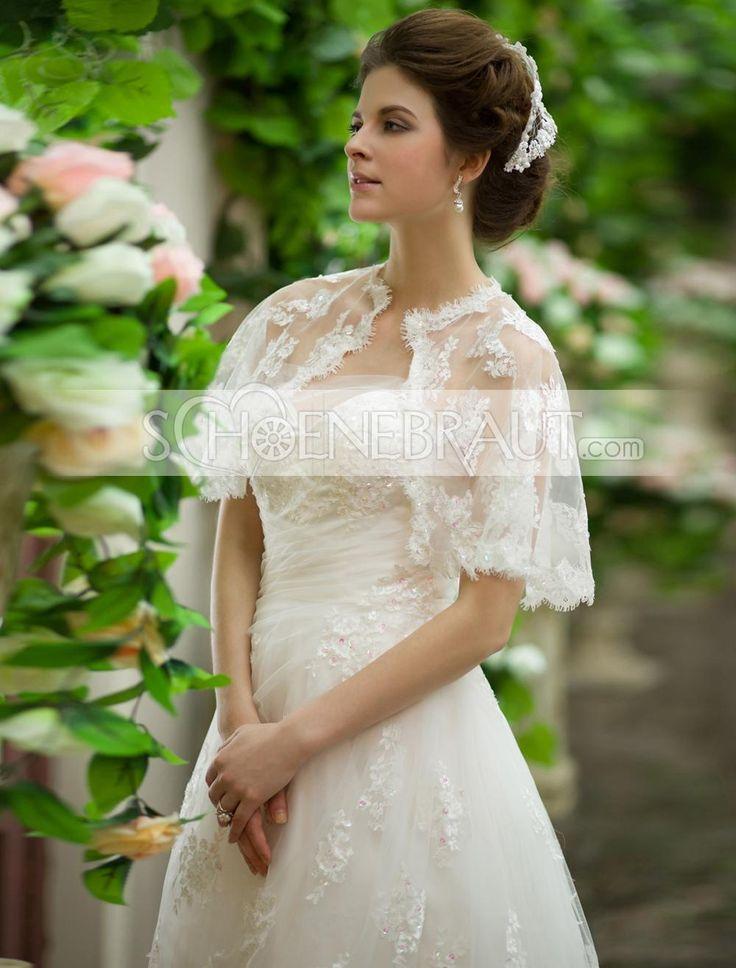 Prinzessinnen hochzeitskleid spitze mit Umhang Brautkleid mit ...
