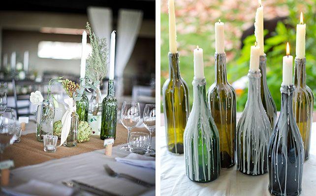 Как сделать подсвечники из винных бутылок для романтического ужина к 8 марта