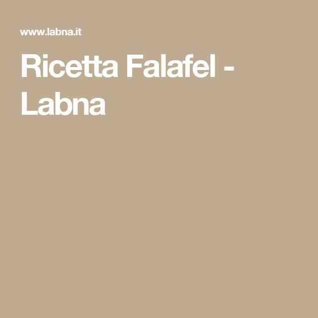 Ricetta   Falafel - Labna