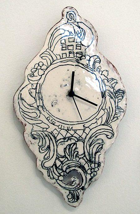 maria kristofersson - clock - ceramic