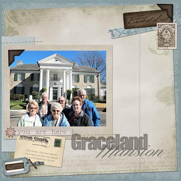 Graceland Mansion, Memphis Tennessee       -World Traveler kit by Keystone Scraps at GDS.