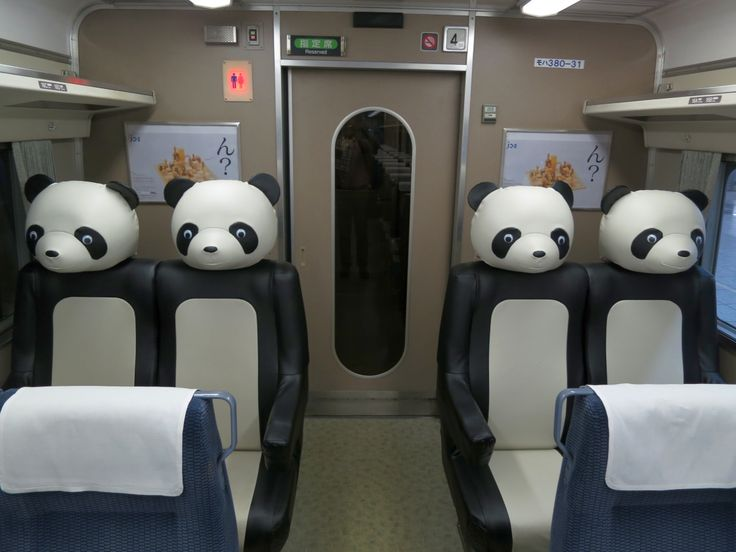 Panda Train, Japan   imagine how much calmer a kid would be if we had these on planes