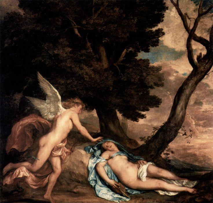 "Antoon Van Dyck, ""Cupid and Psyche"" (1639-40) #amoreepsiche #art #enicultura"