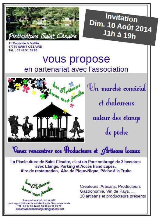 En Charente-Maritime : Marché de producteurs et d'artisans locaux. Consommer local c'est permettre de valoriser son économie locale pour maintenir les emplois locaux !