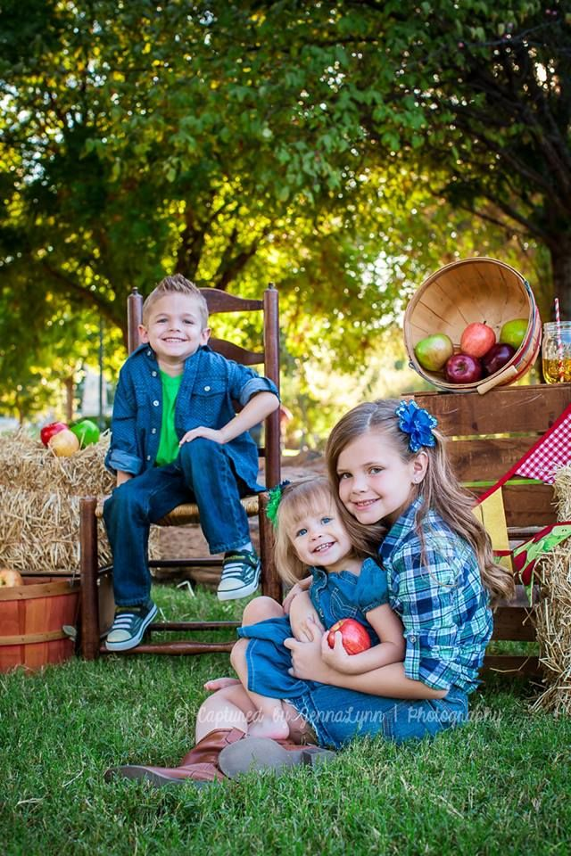 Apple picking time fall minis for children outdoor photo shoot with props from rent my