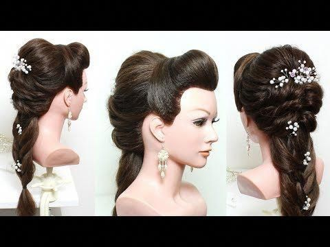Bridal Hairstyle For Long Hair Tutorial With Braid Youtube