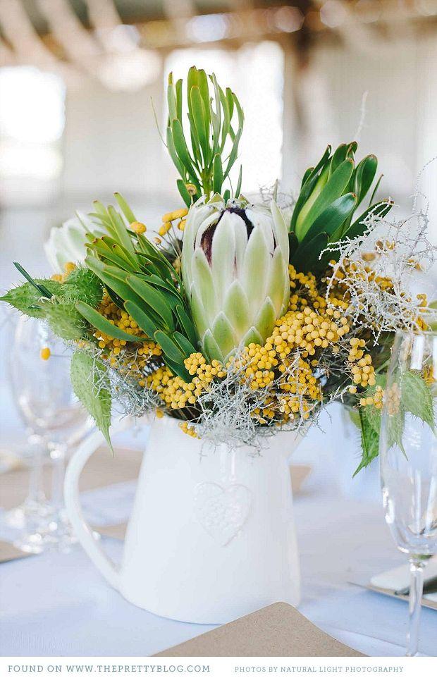 Table flowers- green & yellow   Photography: Natural Light Photography, Flowers: Pieter Bezuidenhout, Hanlie & Egbert De Waal