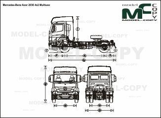 Mercedes-Benz Axor 2036 4x2 Multiuso - drawing