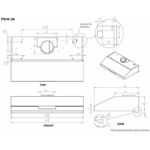 36 860 Cfm Ducted Under Cabinet Range Hood Under Cabinet Range Hoods Range Hood Stainless Steel Range Hood