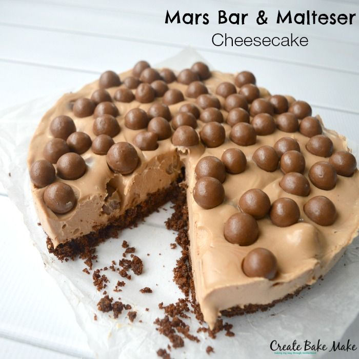 With that in mind, I decided to be a little bit creative and experiment with this Mars Bar and Malteser Cheesecake I had been thinking about for sometime now. As I watched the melted mars bars combine with the creamy cheesecake mixture - I knew I was onto something good. I did consider holding back a little on the Maltesers (mainly so I could eat some!) but decided it there was ever a time to go all out - this was it.