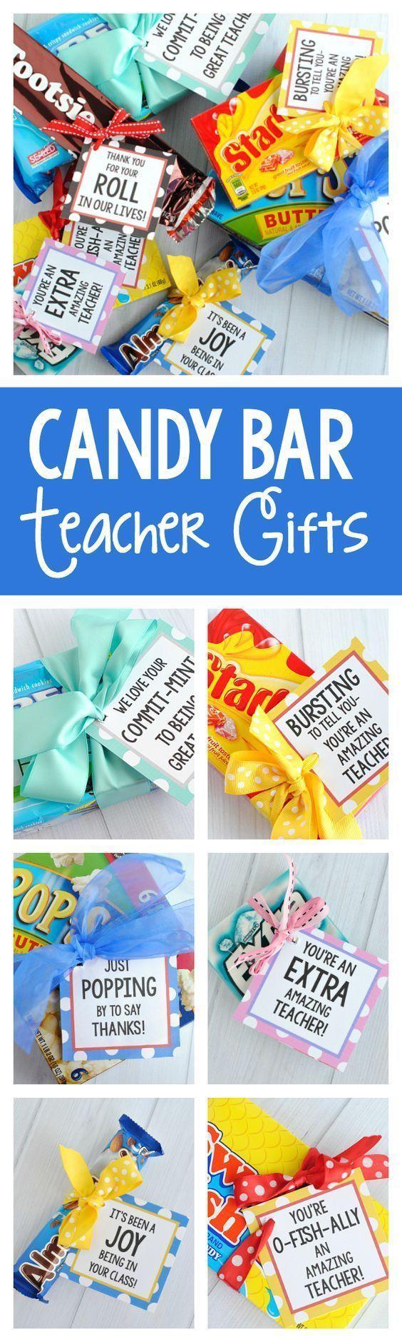 Cute Teacher Appreciation Gift Idea-Candy Bars