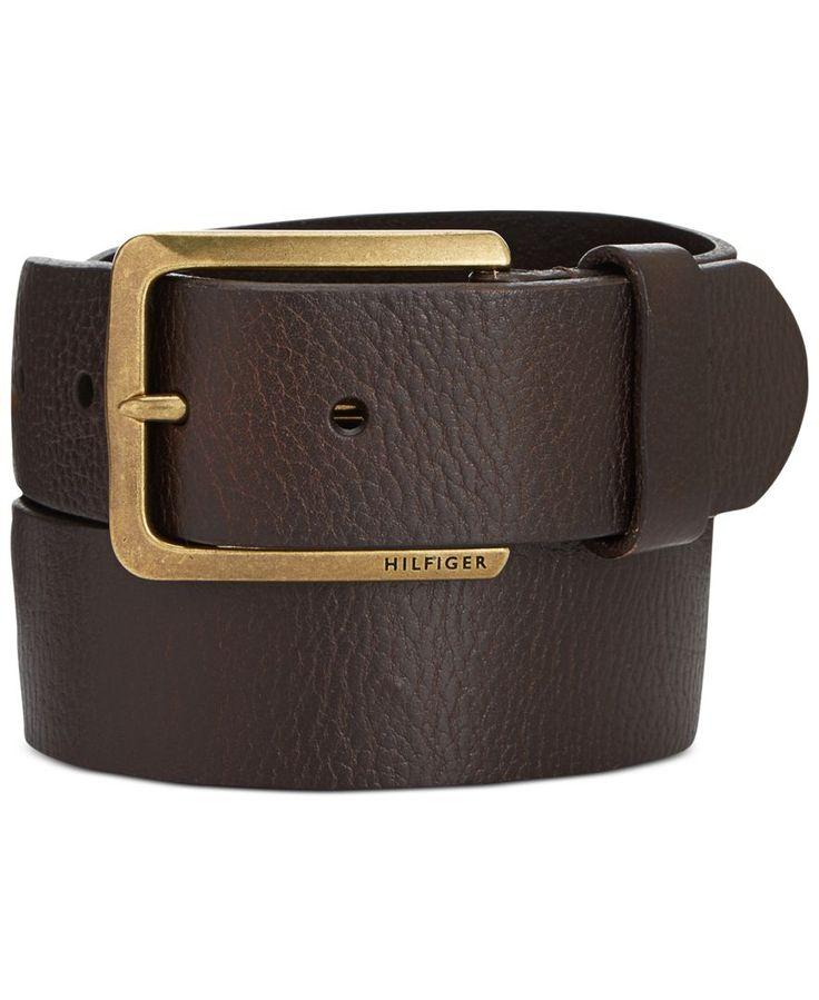 Tommy Hilfiger Heavy Brass Buckle Belt