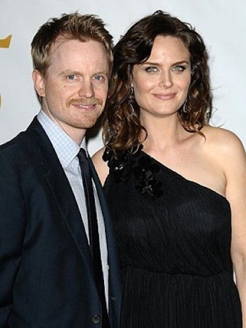 Actress Emily Deschanel with actor husband David Hornsby...
