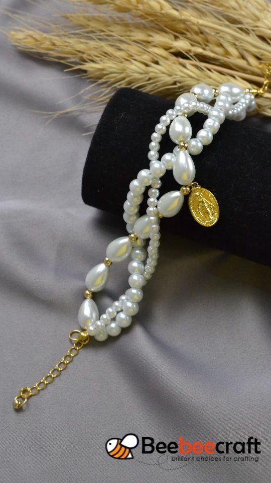 #Beebeecraft Tutorials zum Herstellen von #Armbändern mit #Perlenperlen und gol… – beading