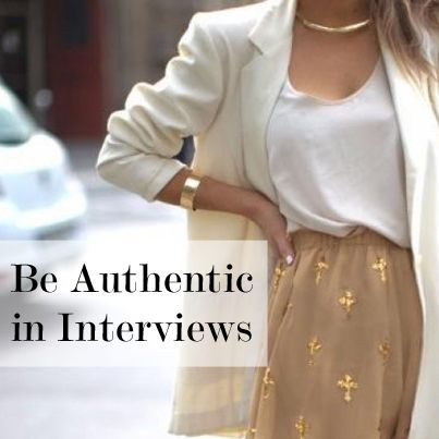 #Interview Prep >> Authenticity During an Interview