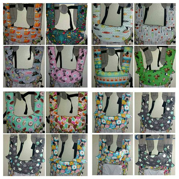 Suck pads/drool pads and adjustable bib cover for lillebaby carriers