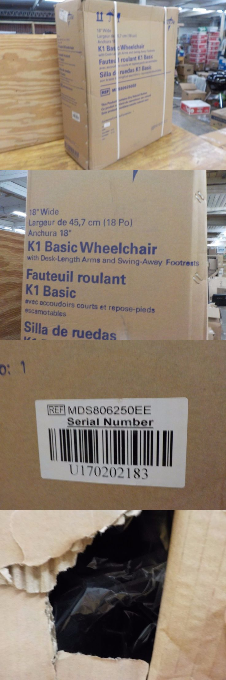 Wheelchairs: Medline K1 Basic 18 Width Wheelchair - Mds806250ee -> BUY IT NOW ONLY: $145 on eBay!