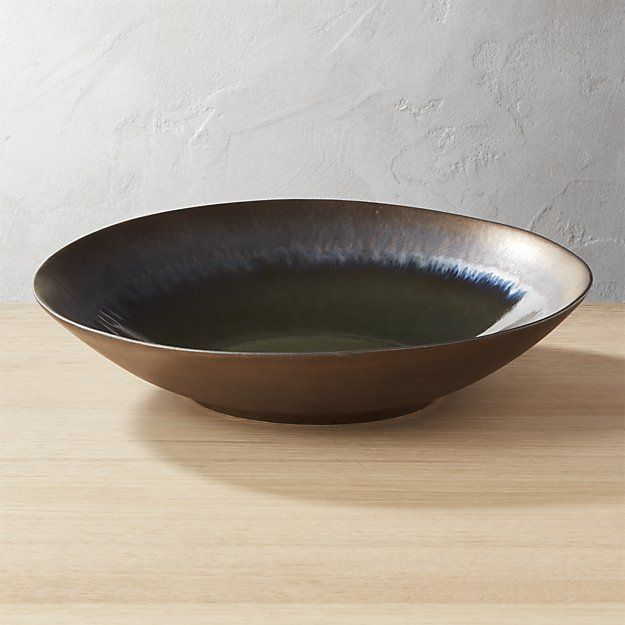 Melt Large Reactive Bronze Bowl Serving Bowls Modern Dinnerware Modern Serving Bowls