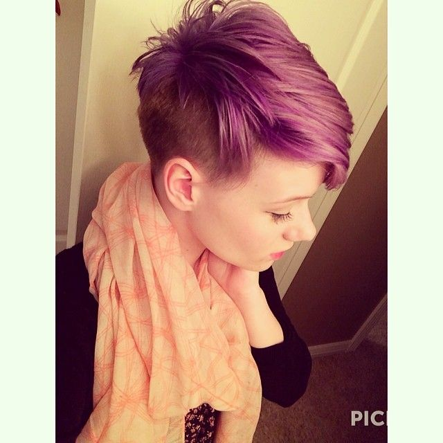 undercut! And purple.