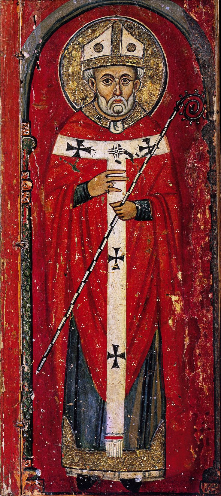 свт. Николай Чудотворец Мирликийский,  (триптих); XIII