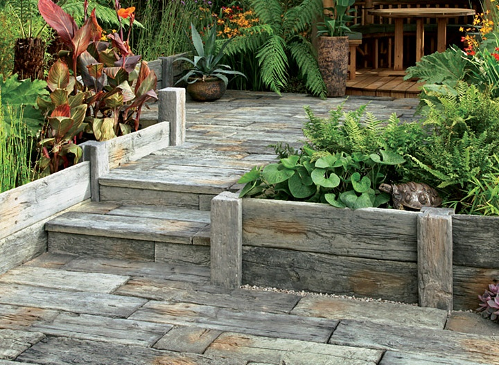 Timberstone-Driftwood Sleepers And Setts, With