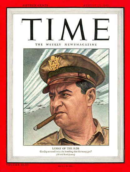 1945-08 Major General Curtis LeMay Copyright Time Magazine