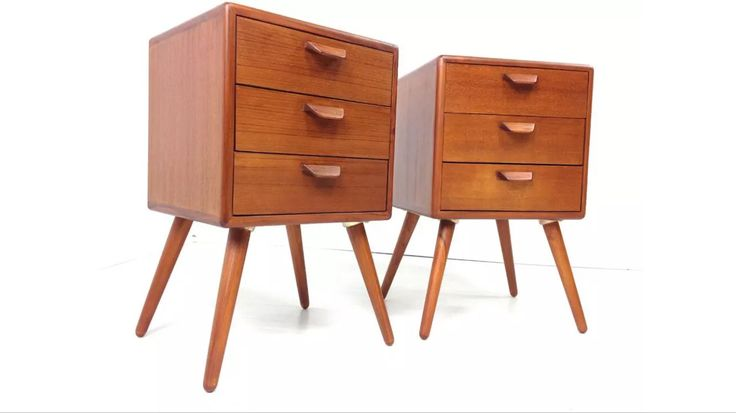 1960's Danish bedside tables