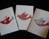 Fabric dove cards on Etsy
