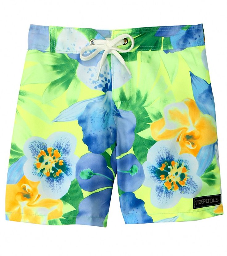 Super cool trunks from Swim Outlet! Great pattern for girls who like flowers, but not pink. Sizes 5-12