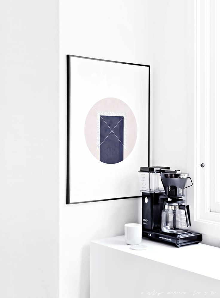 Only Deco Love: Poster instead of shelves in the kitchen