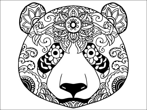 Les 25 meilleures id es de la cat gorie coloriage panda sur pinterest un panda comment - Coloriage de panda kawaii ...