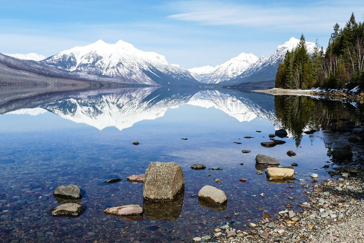Stunning views are part of the travel fun on a Glacier National Park winter trip.