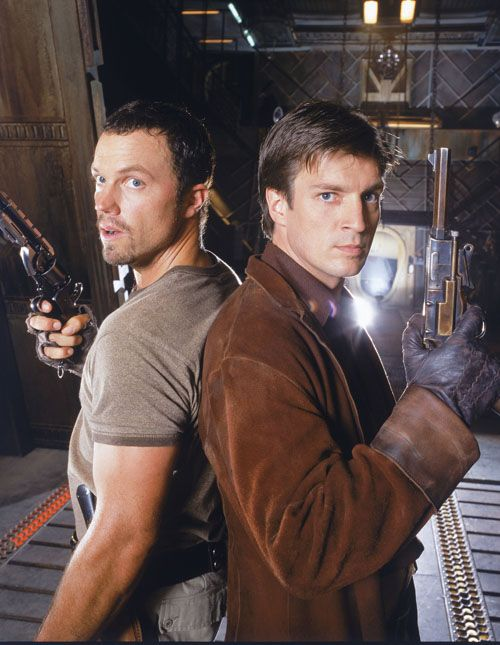 Firefly - Nathan Fillion and Adam Baldwin - damn! can I be in the middle?